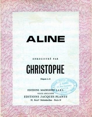 ALINE - E1065M - Editions Madeleine S.A.R.L. - Editions Jacques Plante