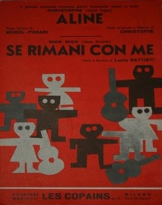 ALINE - Edizioni musicali LES COPAINS MILANO - copyright 1966 ITALIE