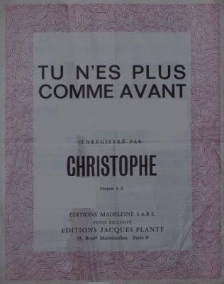 TU N'ES PLUS COMME AVANT - E1073M - Editions Madeleine S.A.R.L. - Editions Jacques Plante