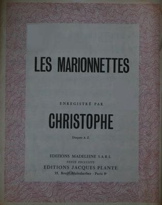 LES MARIONNETTES - E1074M - Editions Madeleine S.A.R.L. - Editions Jacques Plante