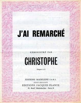 J'AI REMARCHE - E1085M - Editions Madeleine S.A.R.L. - Editions Jacques Plante