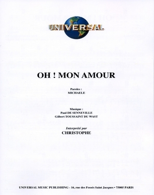 OH! MON AMOUR - Universal Music C541