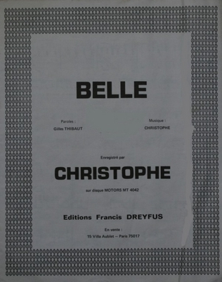 BELLE - FD270 - Editions musicales Francis Dreyfus