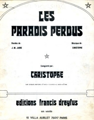 LES PARADIS PERDUS - EFD306 - Editions musicales Francis Dreyfus