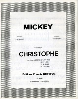 MICKEY - EFD307 - Editions musicales Francis Dreyfus