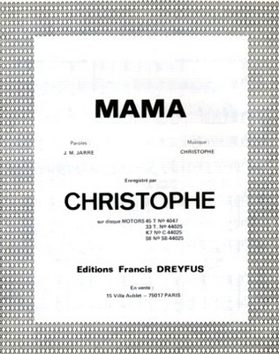 MAMA - EFD309 - Editions musicales Francis Dreyfus