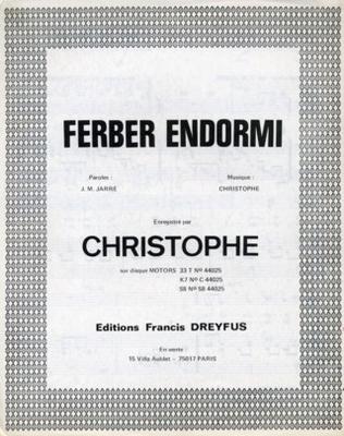 FERBER ENDORMI - EFD311 - Editions musicales Francis Dreyfus