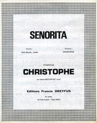 SENORITA - EFD352 - Editions musicales Francis Dreyfus