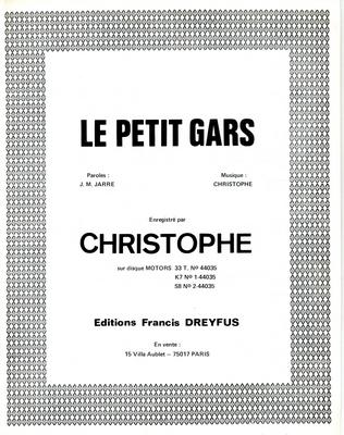 LE PETIT GARS - FD356 - Editions musicales Francis Dreyfus