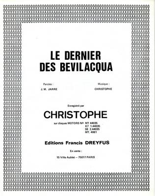 LE DERNIER DES BEVILACQUA - FD364 - Editions musicales Francis Dreyfus