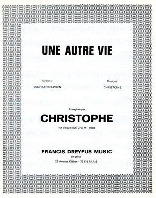 UNE AUTRE VIE - FDM158 - Editions musicales Francis Dreyfus
