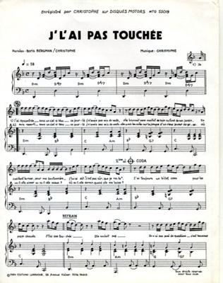 J'L'AI PAS TOUCHEE - MTO 55019 - Editions Labrador