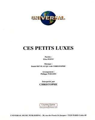 CES PETITS LUXES - Universal Music - U.M.P. 3375