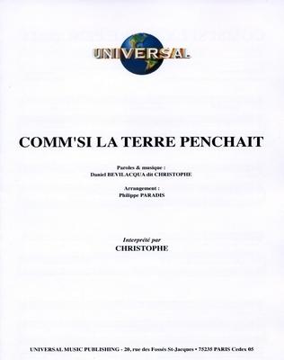 COMM' SI LA TERRE PENCHAIT - Universal Music - U.M.P. 3377