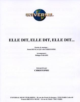 ELLE DIT, ELLE DIT… - Universal Music - U.M.P. 3379