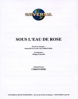 SOUS L'EAU DE ROSE - Universal Music - U.M.P. 3380