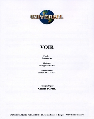 VOIR - Universal Music - U.M.P. 3382