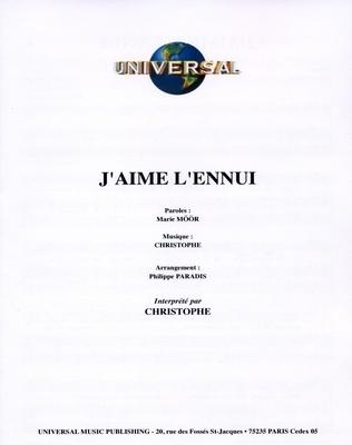 J'AIME L'ENNUI - Universal Music - U.M.P. 4424