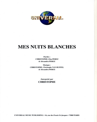 MES NUITS BLANCHES - Universal Music - U.M.P. 11359